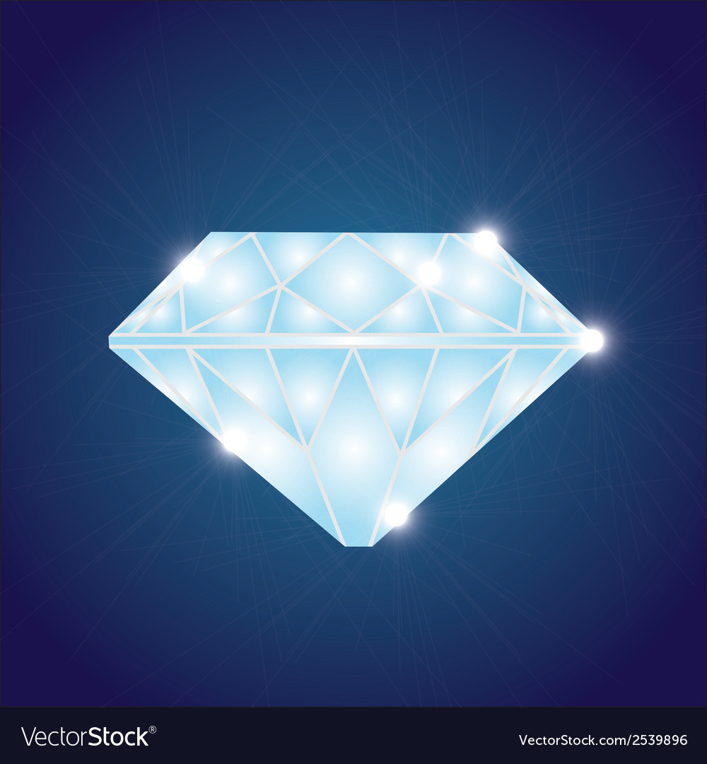 Shiny diamond eps10 vector | Price: 1 Credit (USD $1)