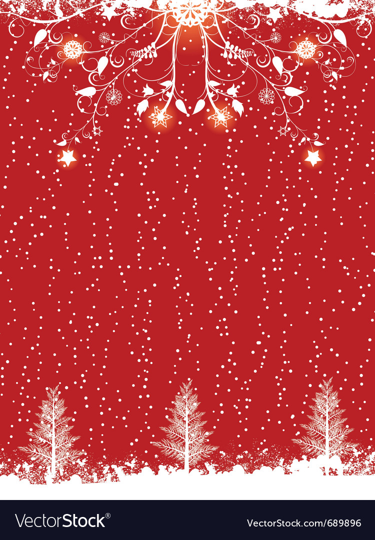 Silhouette christmas trees vector | Price: 1 Credit (USD $1)
