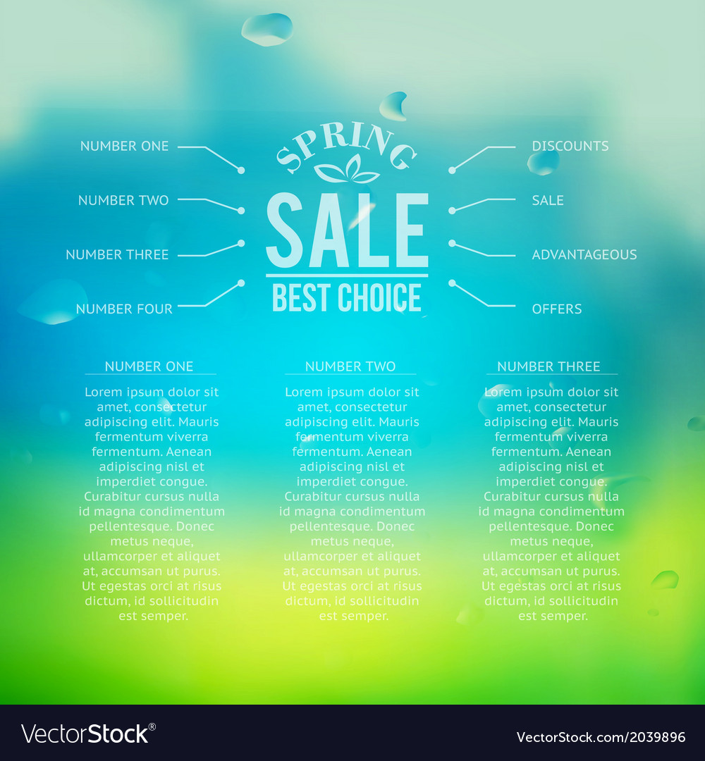 Spring sale background with text vector | Price: 1 Credit (USD $1)