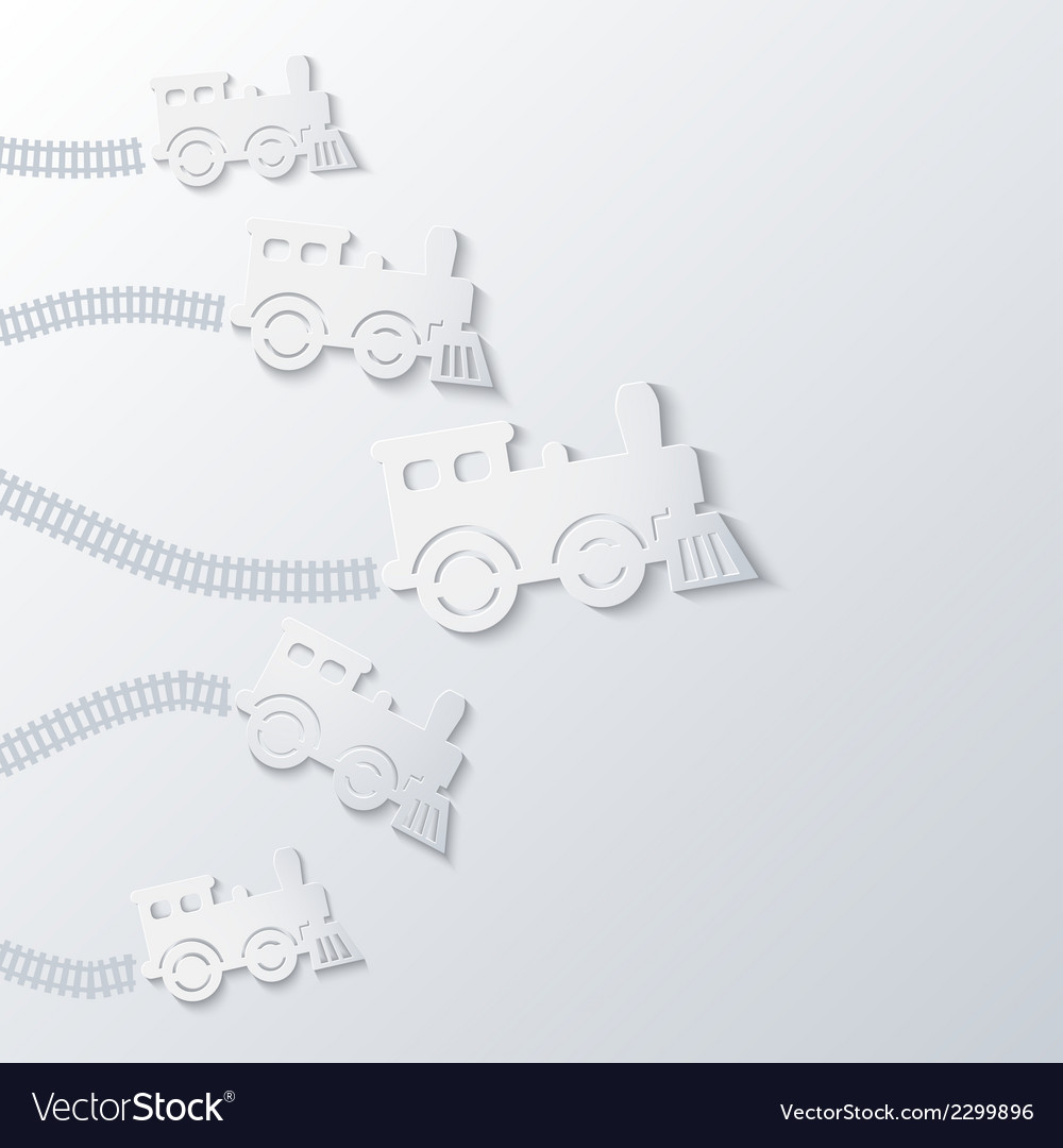 Steam locomotives move forward vector | Price: 1 Credit (USD $1)