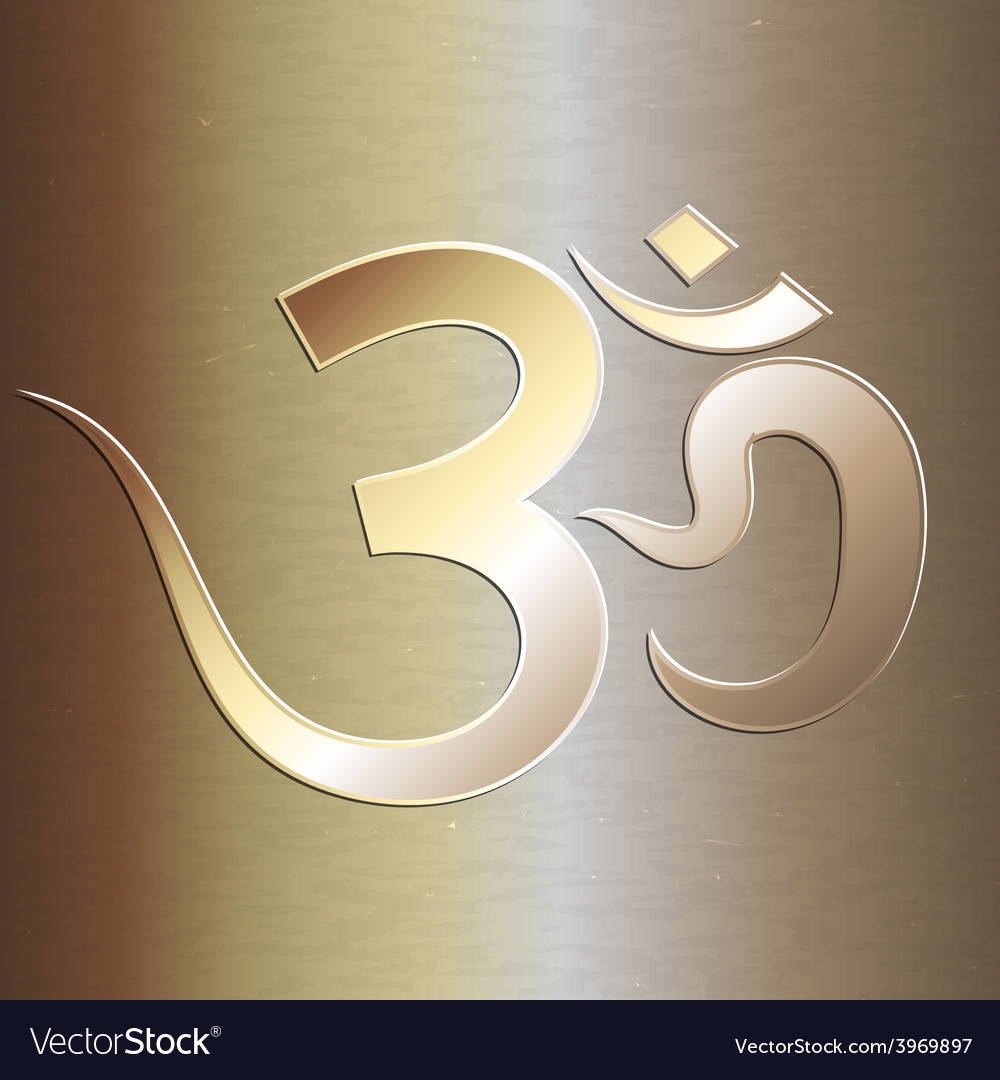 Abstract golden background with om mantra vector | Price: 1 Credit (USD $1)