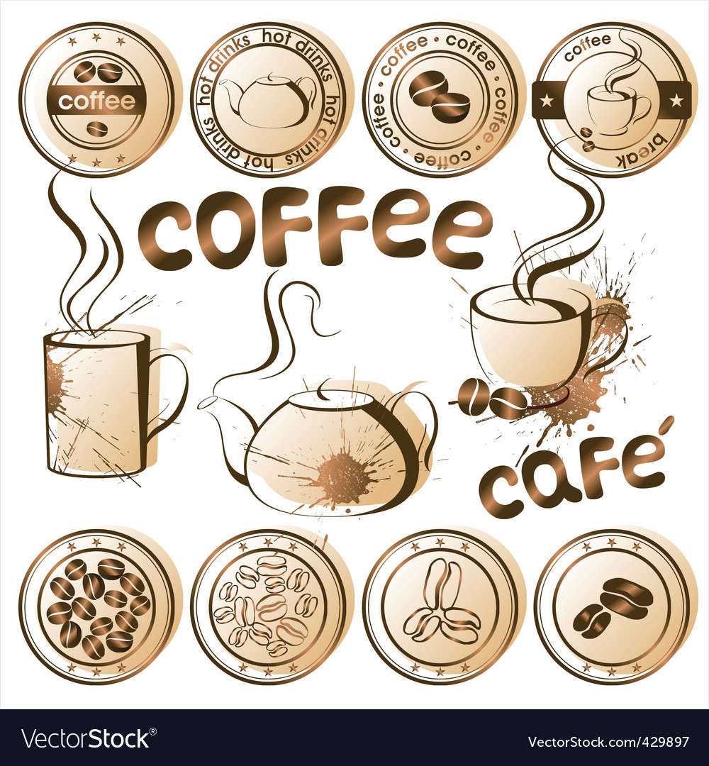 All coffee vector | Price: 1 Credit (USD $1)