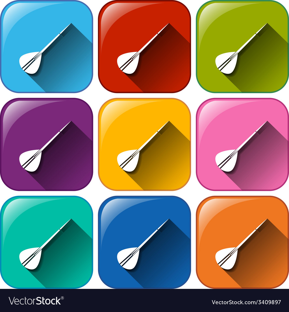 Buttons with darts vector   Price: 1 Credit (USD $1)