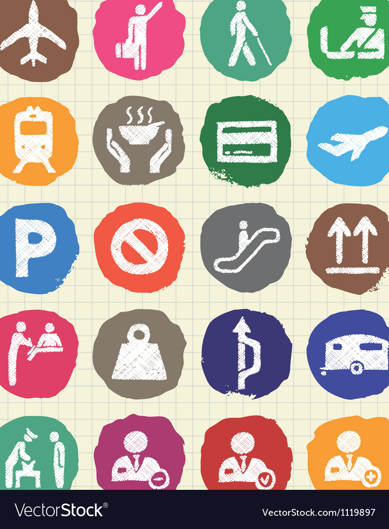Customs and transport urban web icons set vector   Price: 1 Credit (USD $1)