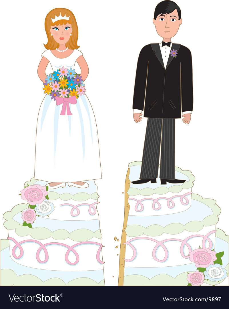 Divorce cake vector | Price: 3 Credit (USD $3)
