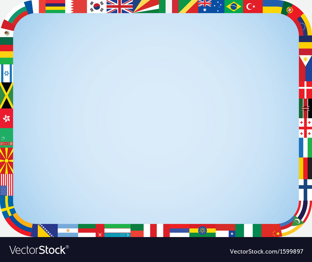 Flags frame with rounded corners vector | Price: 1 Credit (USD $1)