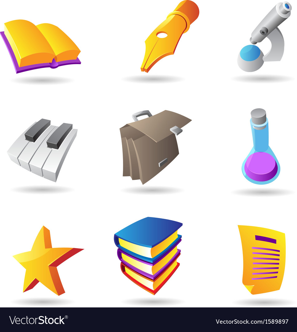Icons for education and knowledge vector | Price: 1 Credit (USD $1)