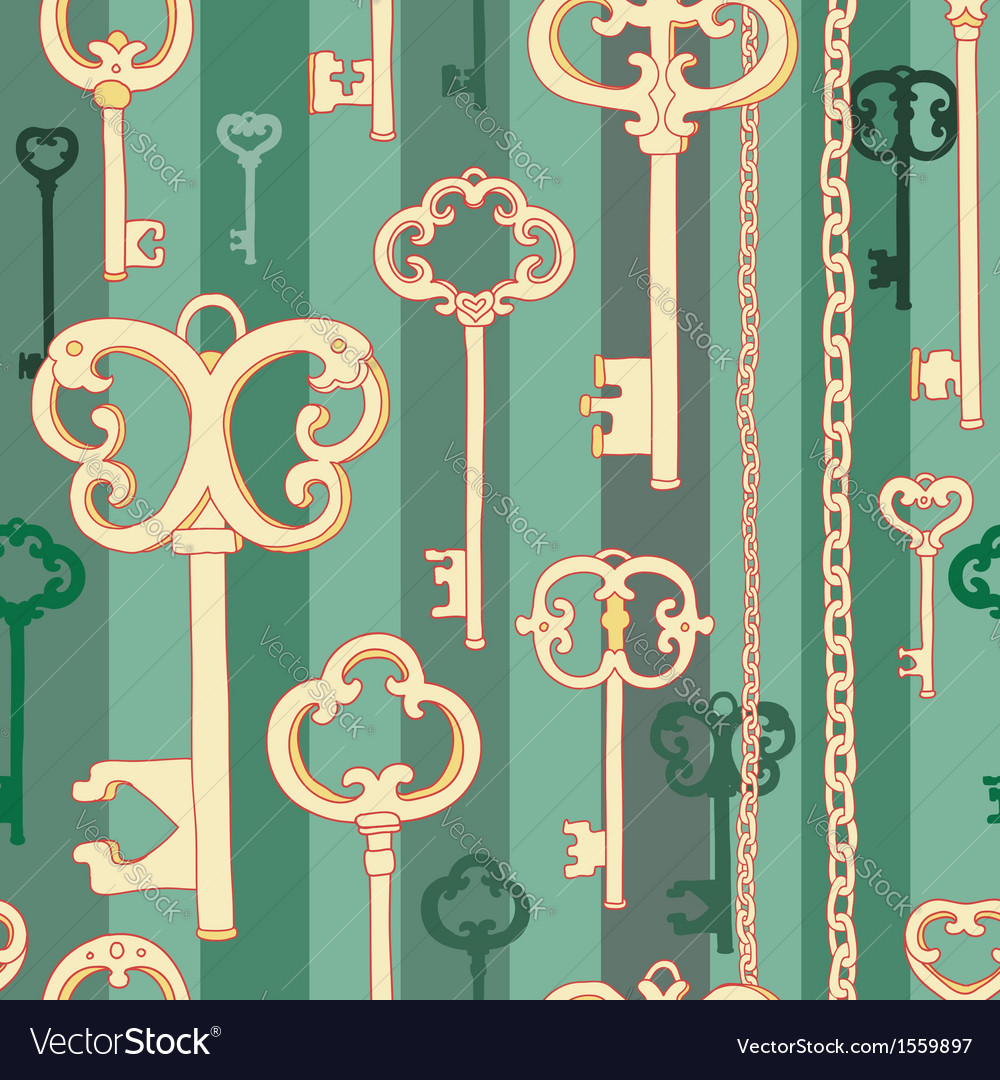 Key pattern green vector | Price: 1 Credit (USD $1)