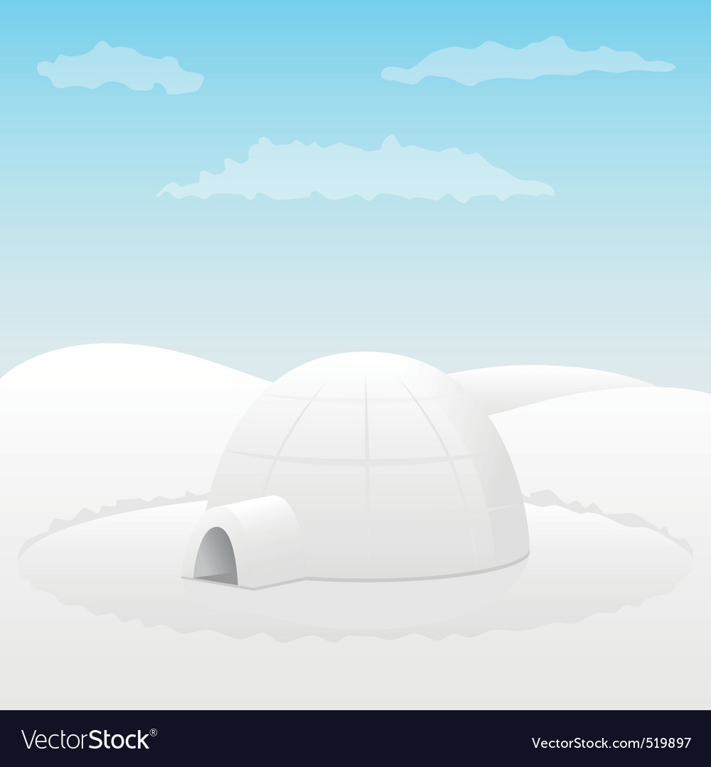 One igloo vector | Price: 1 Credit (USD $1)
