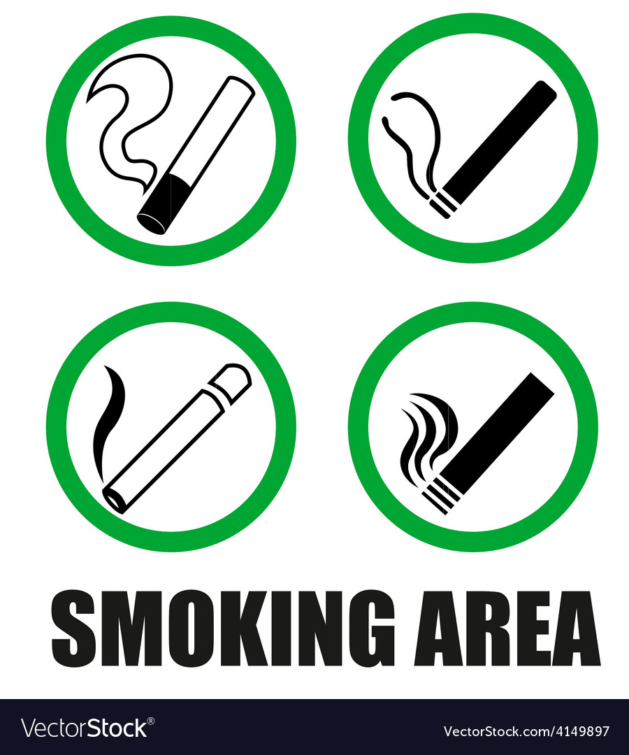 Smoking area symbols vector | Price: 1 Credit (USD $1)