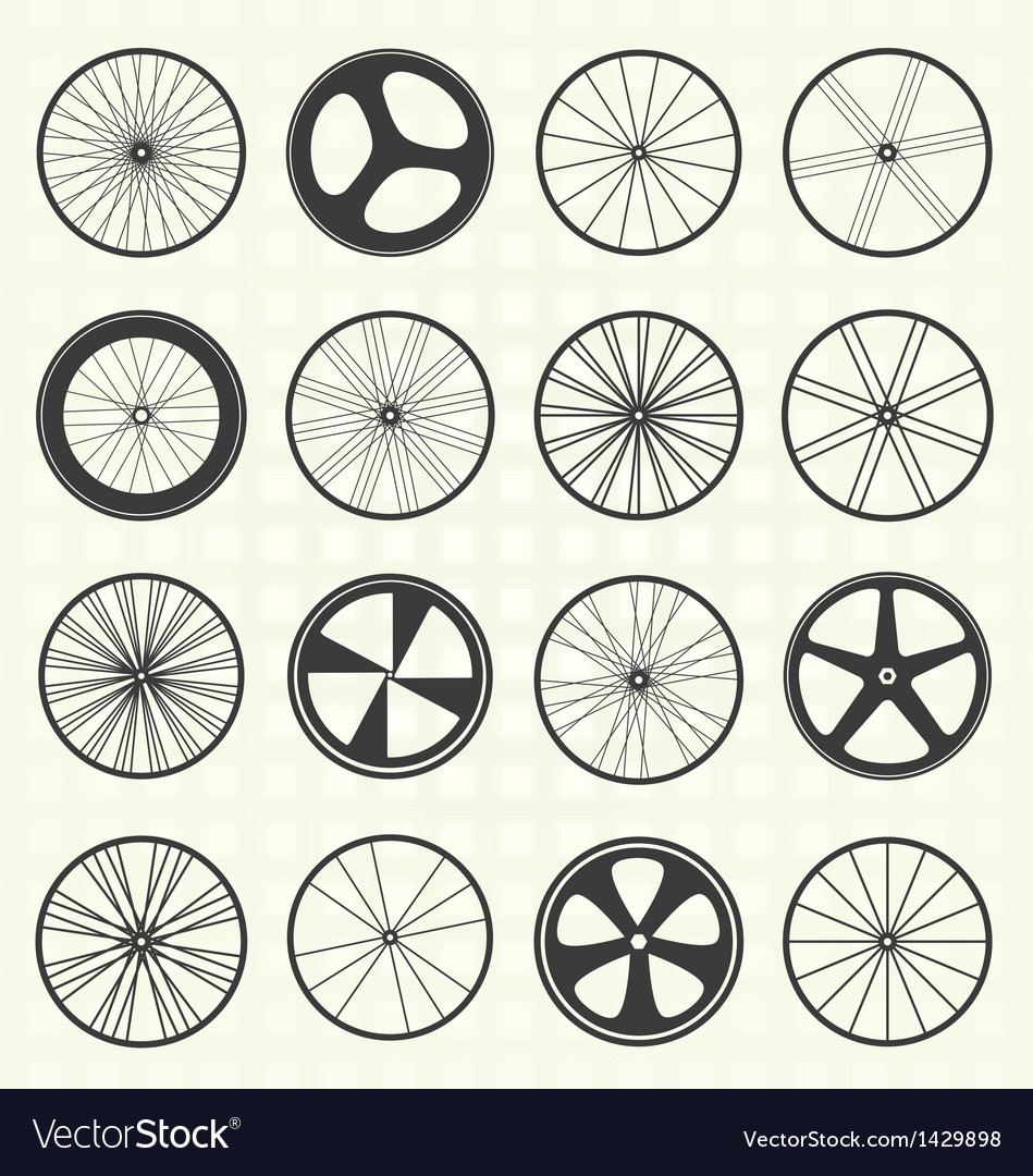 Bike wheel collection vector | Price: 1 Credit (USD $1)