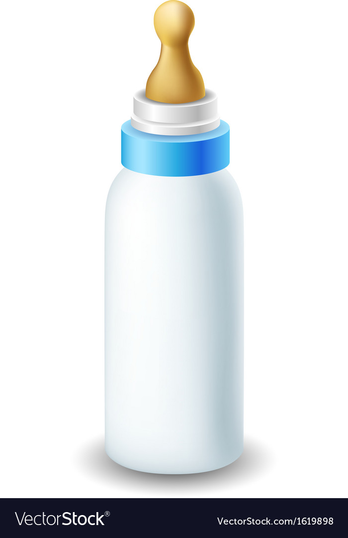 Blue nursing bottle vector | Price: 1 Credit (USD $1)