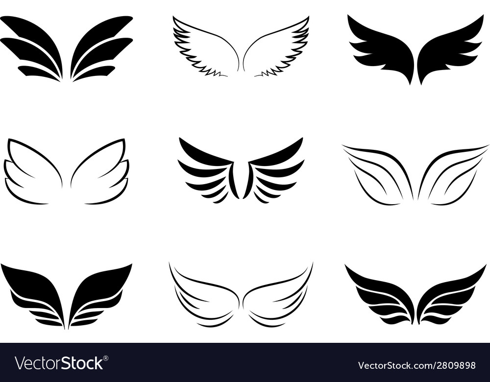 Different wing designs vector | Price: 1 Credit (USD $1)