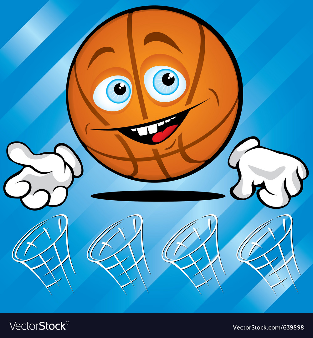 Funny basket ball vector | Price: 1 Credit (USD $1)