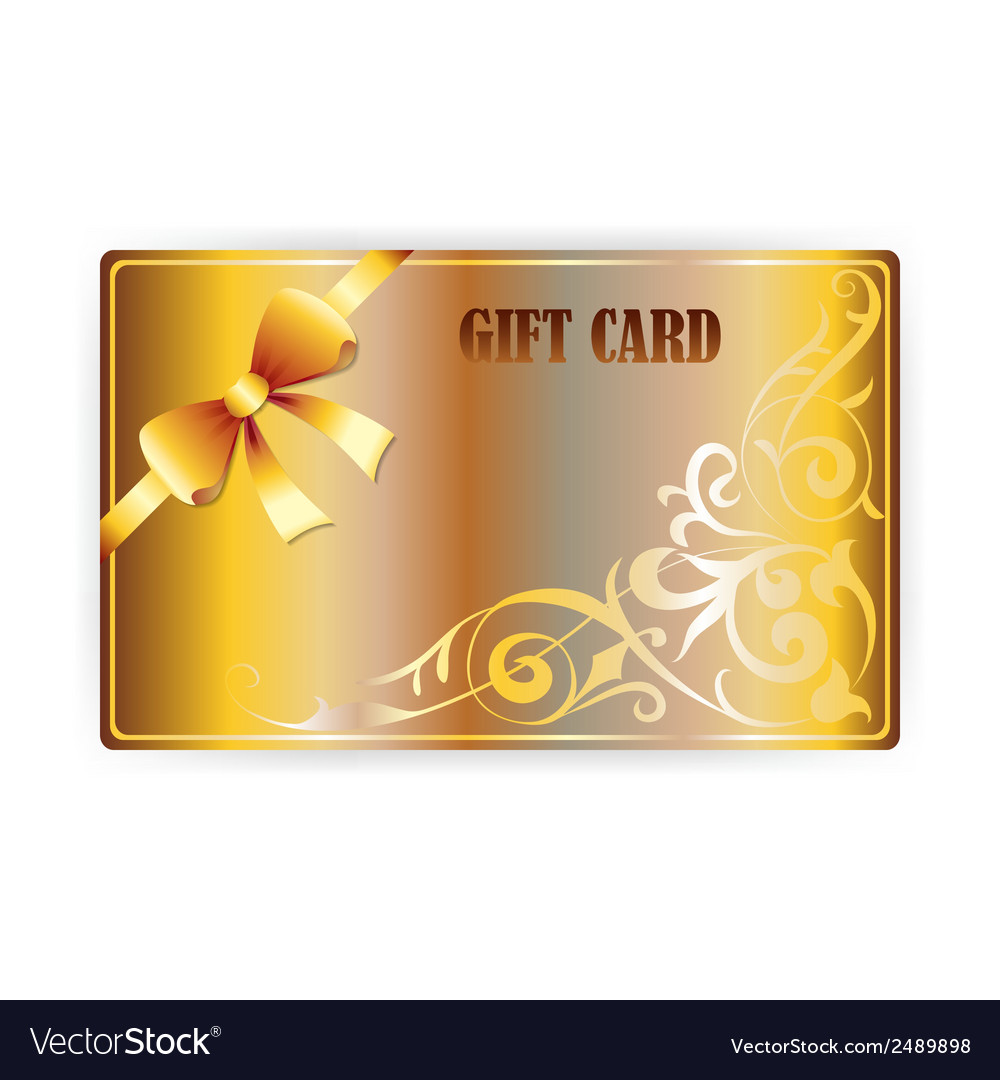 Gold gift coupon gift card vector | Price: 1 Credit (USD $1)