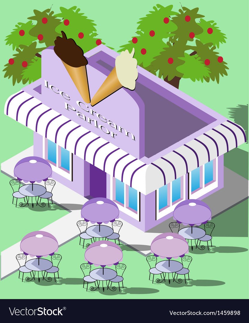 Isometric ice cream parlor vector | Price: 3 Credit (USD $3)