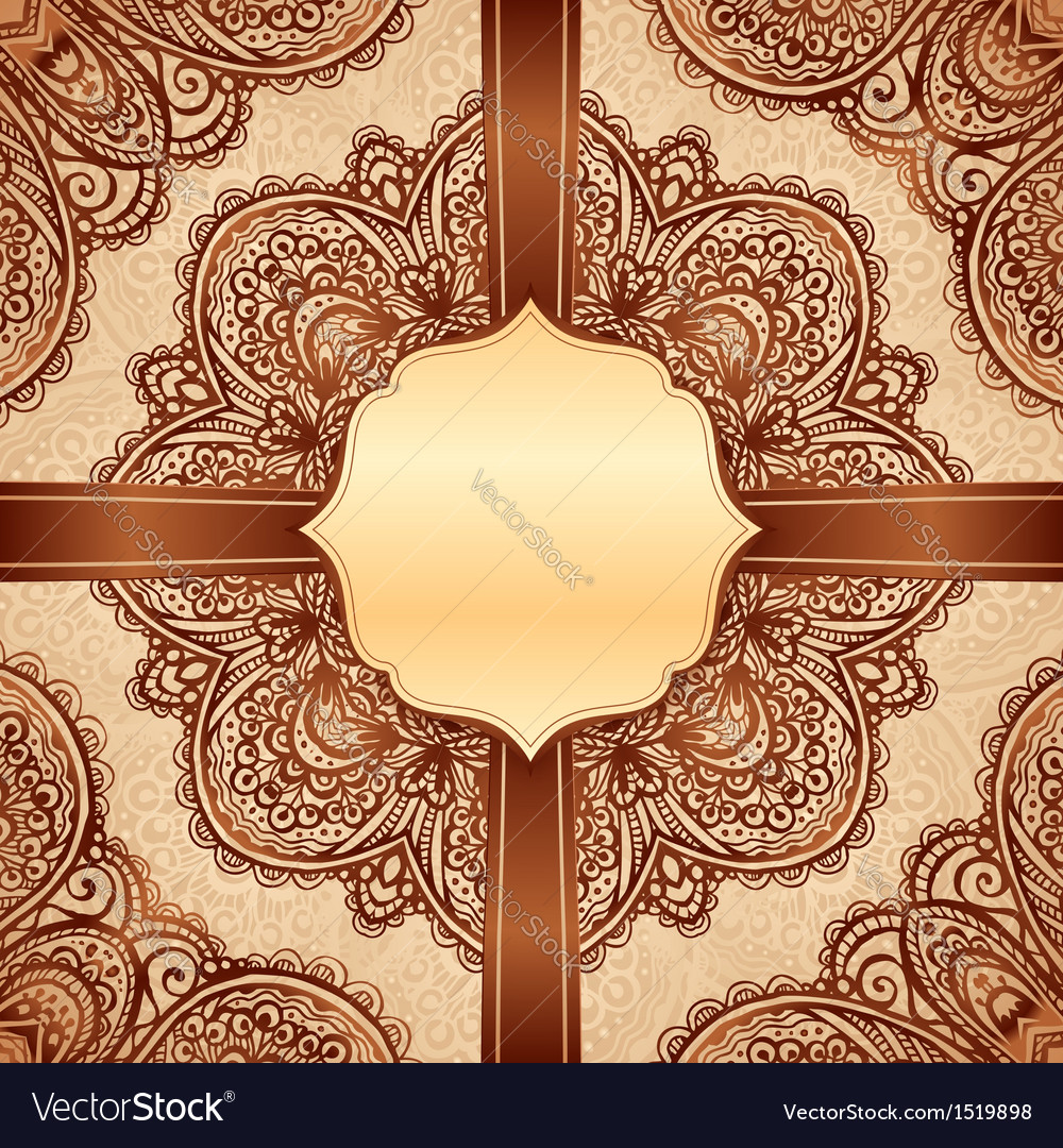 Ornate vintage napkin background vector | Price: 1 Credit (USD $1)
