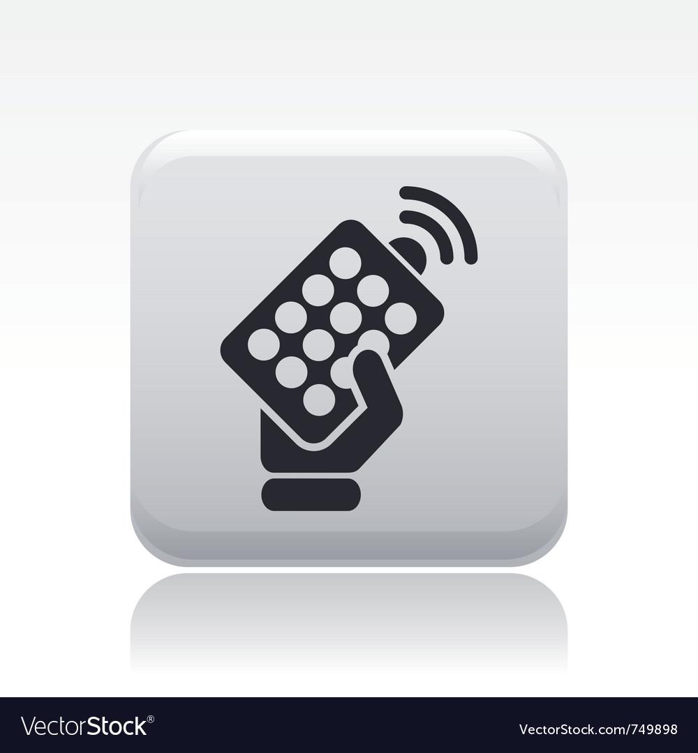 Remote icon vector | Price: 1 Credit (USD $1)