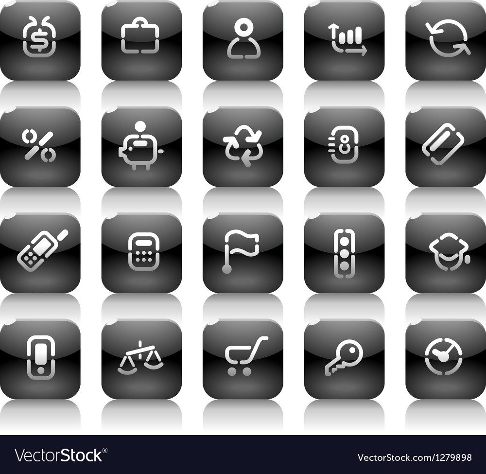 Stencil black buttons for business vector | Price: 1 Credit (USD $1)