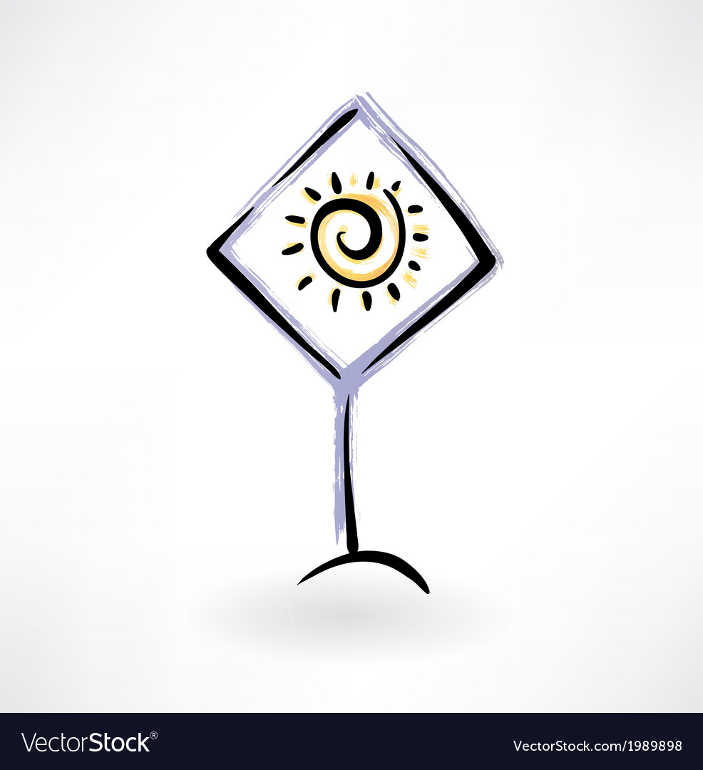 Sun grunge icon vector | Price: 1 Credit (USD $1)