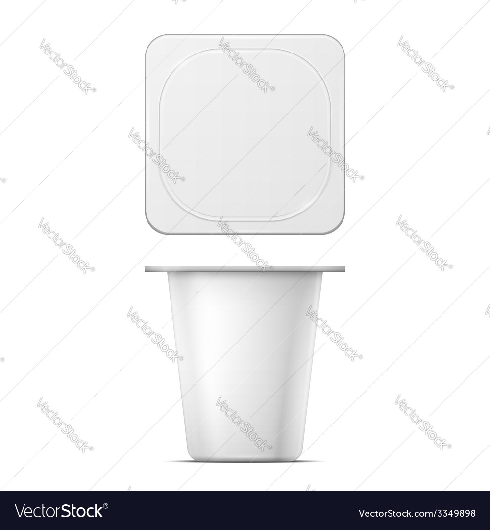 White yougurt pot template vector | Price: 1 Credit (USD $1)