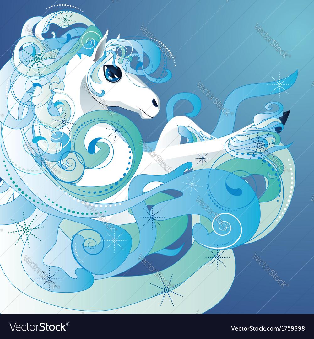 Winter horse2 vector | Price: 3 Credit (USD $3)