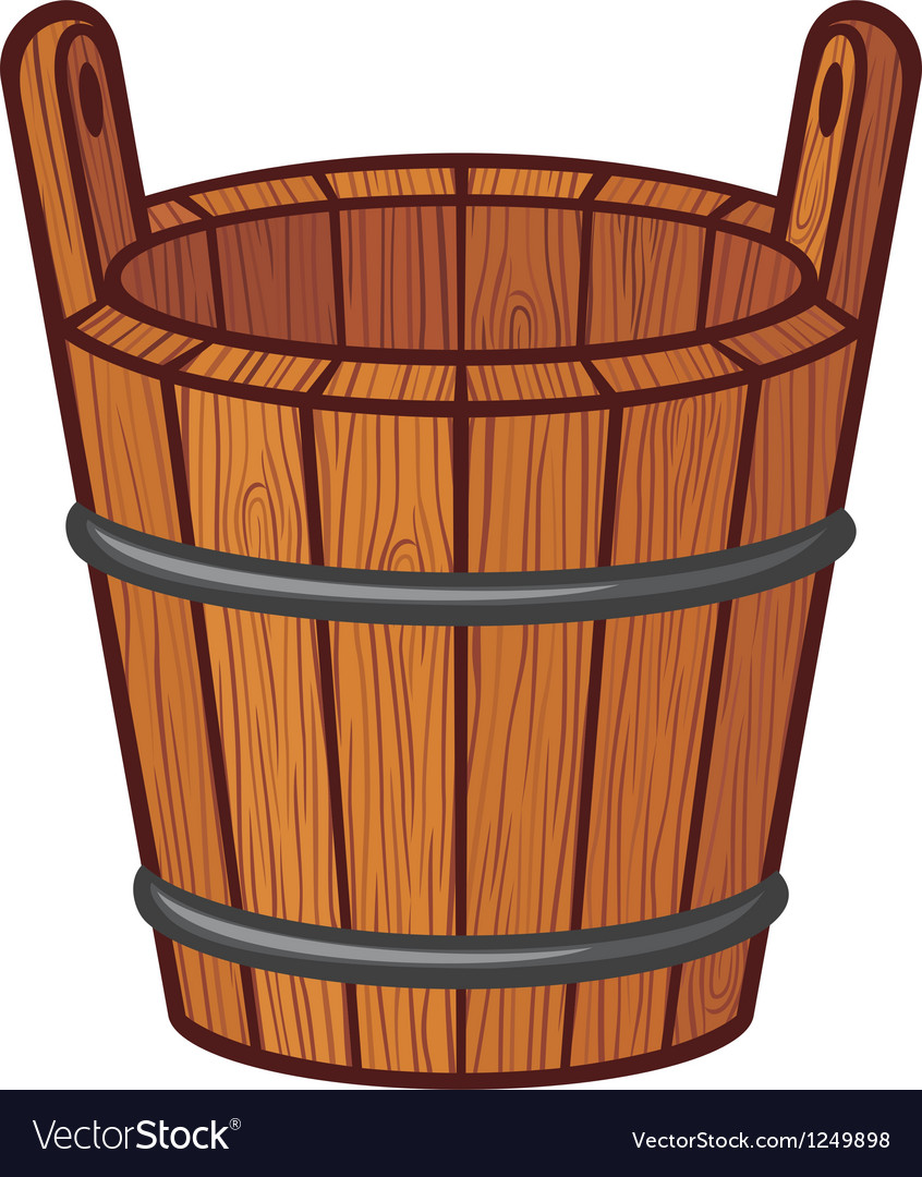 Wooden bucket vector | Price: 1 Credit (USD $1)