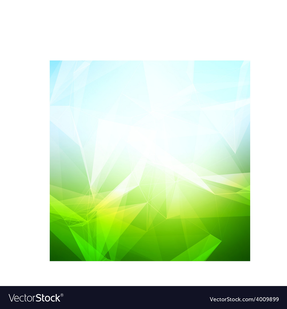 Abstract polygonal summer time low poly bright vector | Price: 1 Credit (USD $1)