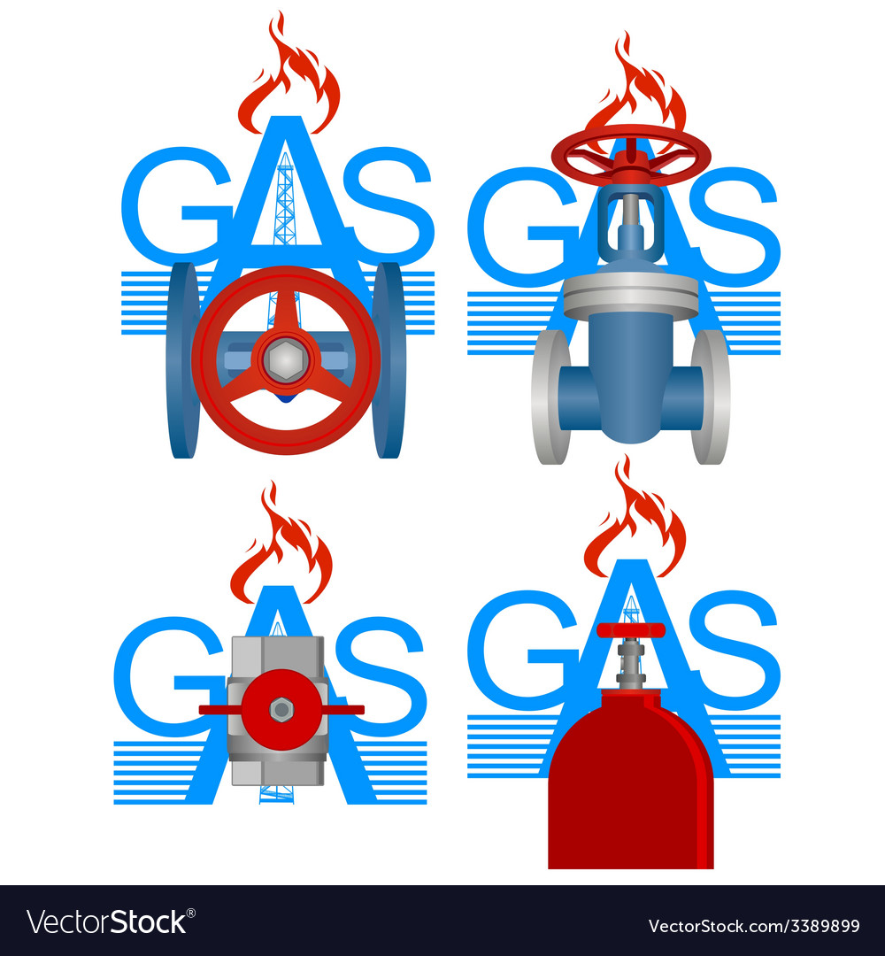 Badges gas industry vector | Price: 1 Credit (USD $1)