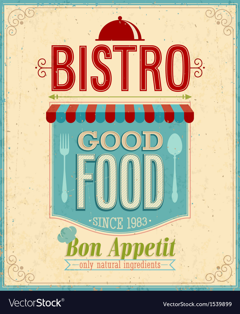 Bistro vintage vector | Price: 1 Credit (USD $1)