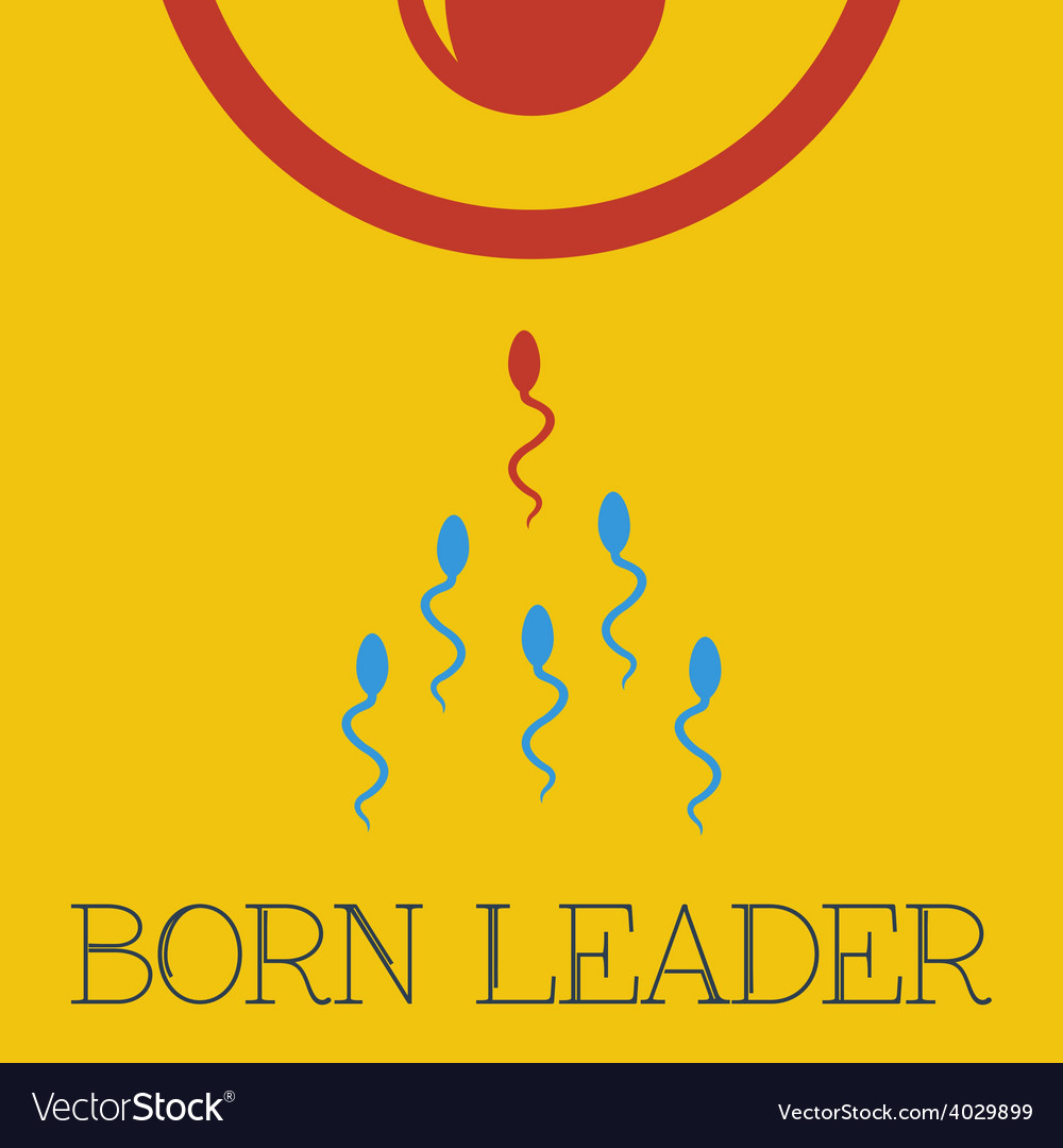 Born leader flat vector | Price: 1 Credit (USD $1)
