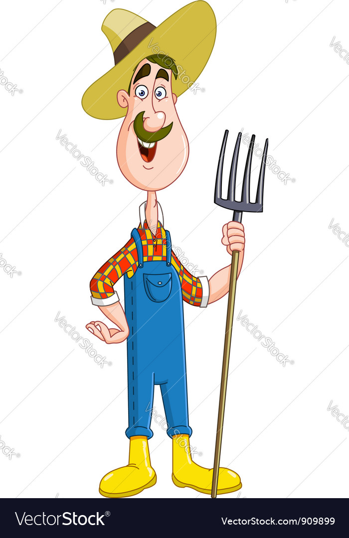 Farmer vector | Price: 1 Credit (USD $1)