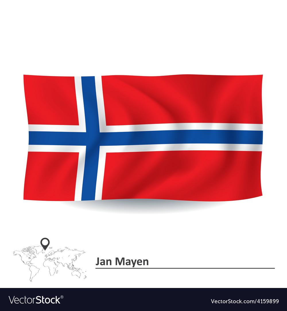 Flag of jan mayen vector | Price: 1 Credit (USD $1)
