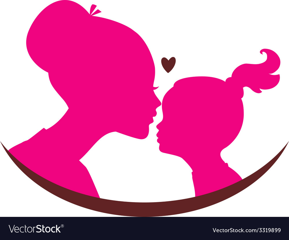 Mom and daughter love vector | Price: 1 Credit (USD $1)