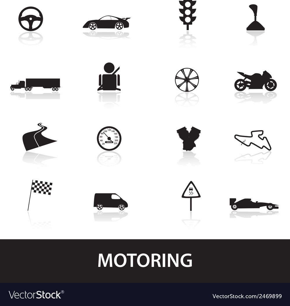 Motoring icons eps10 vector | Price: 1 Credit (USD $1)