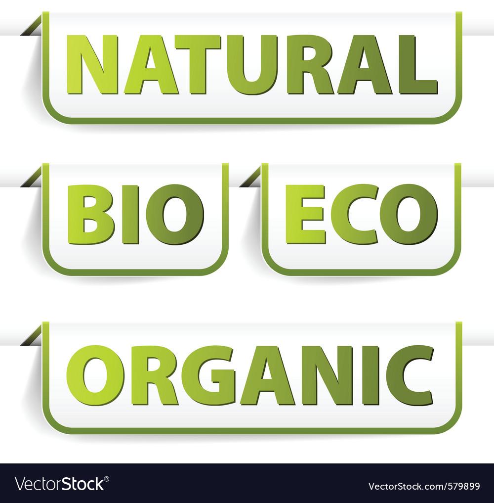 Organic bookmarks vector   Price: 1 Credit (USD $1)