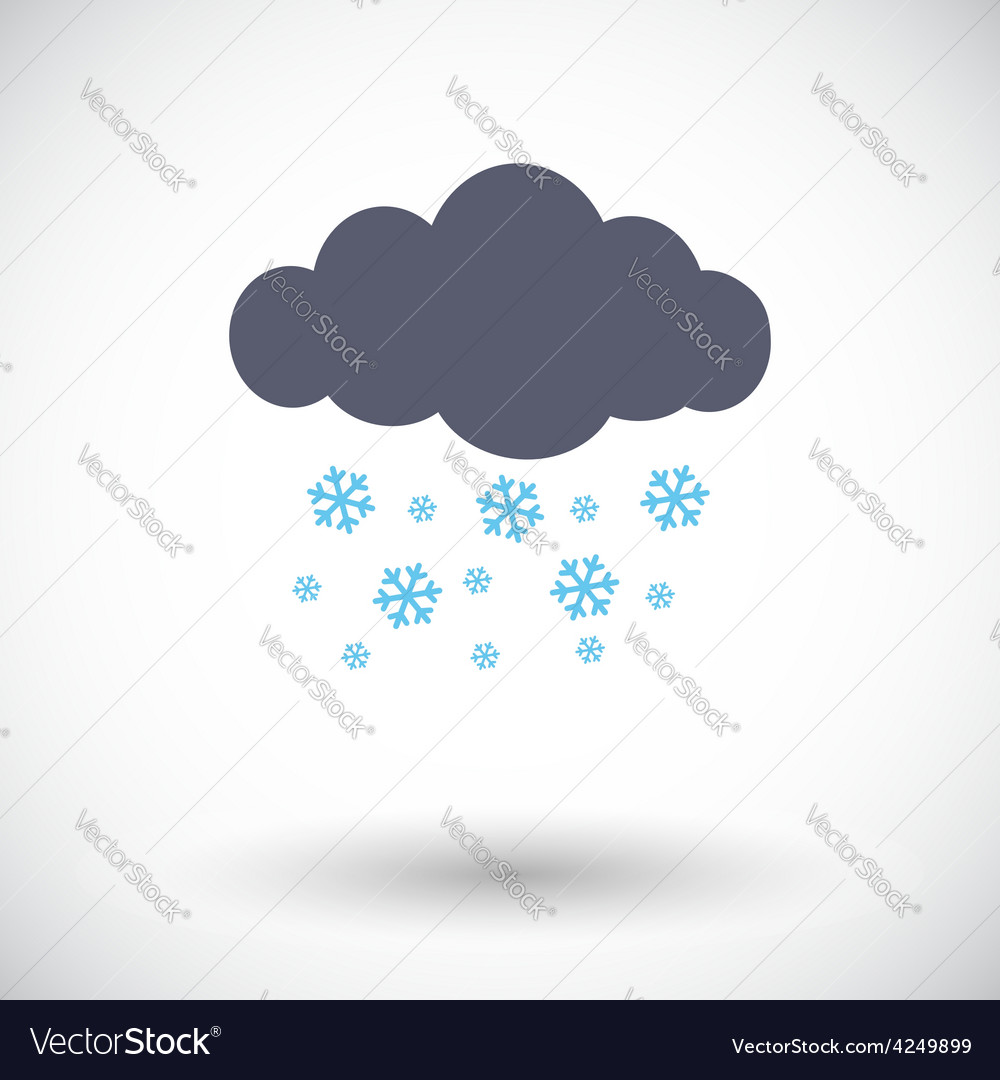 Snowfall single icon vector | Price: 1 Credit (USD $1)