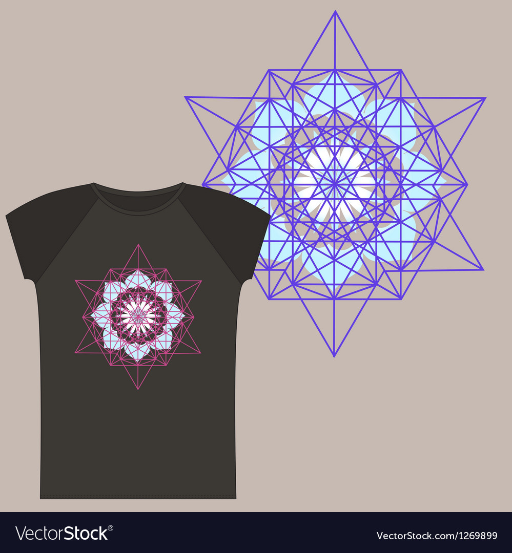Star tetrahedron for a t shirt vector | Price: 1 Credit (USD $1)