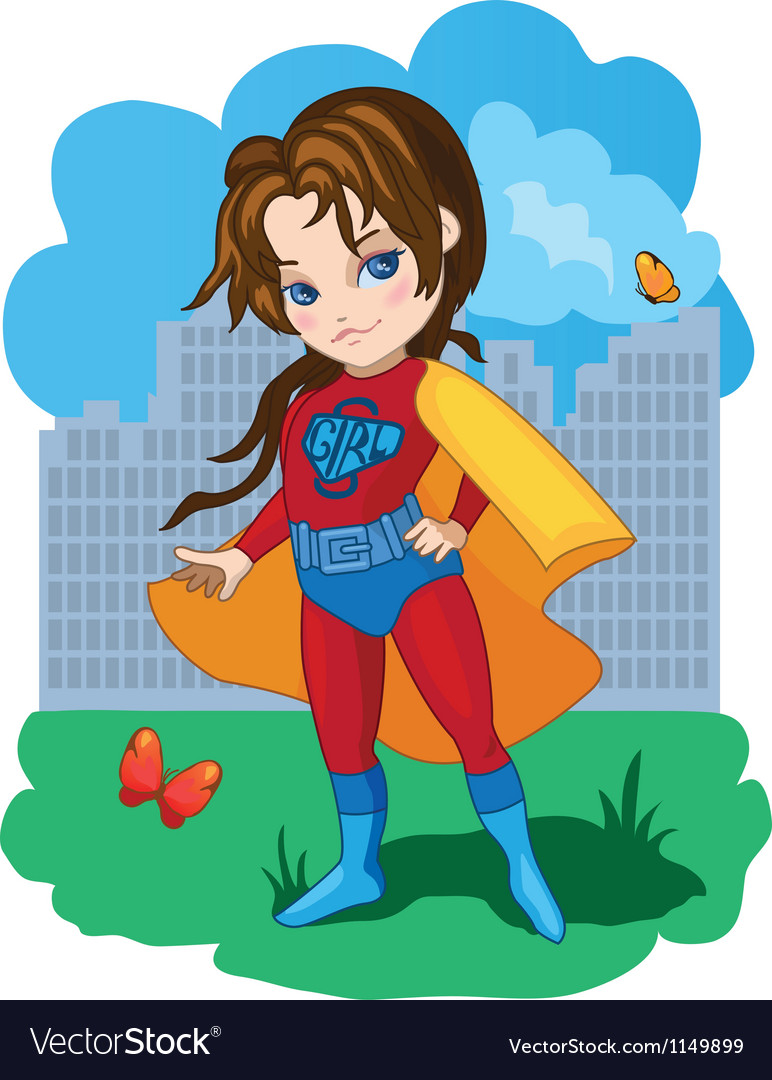 Super girl vector | Price: 1 Credit (USD $1)