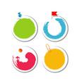 Colorful blob design stickers vector