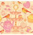 High tea pattern background vector