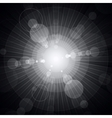 White shining circles and stars gray background vector