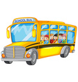 Children and school bus vector