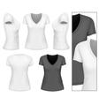 Womens v-neck t-shirt vector