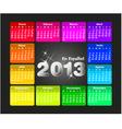 Colorful calendar 2013 in spanish vector