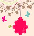 Vintage flower background vintage card vector