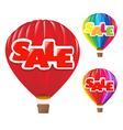 Sale air balloon vector