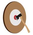 Throwing axe target vector