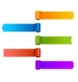 Set of ribbons banners vector