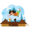 Cute love fairy cartoon vector